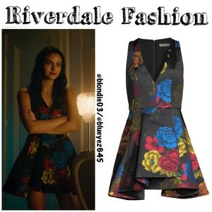 Alice + Olivia Tanner Asymmetric Floral Dress 4